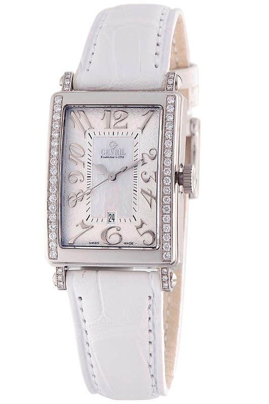 Gevril Womens Avenue of Americas Mini MOP Swiss Made Watch 7249NE
