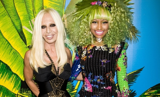 Donatella With Nicki Minaj In Versace For H&M