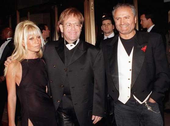 9e2c67d1852e Gianni and Donatella Versace With Elton ...