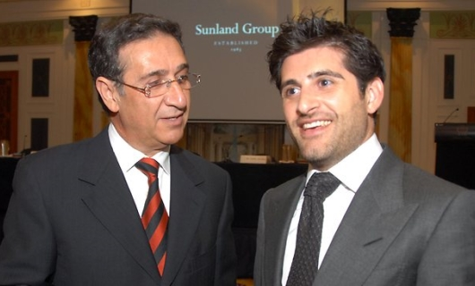 Soheil Abedian of Sunland Group with Son Sahba
