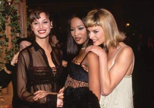 Christy Turlington, Naomi Campbell and Linda Evangelista in 1994