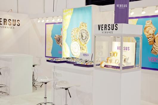Versus Versace Booth at WWD Magic 2013