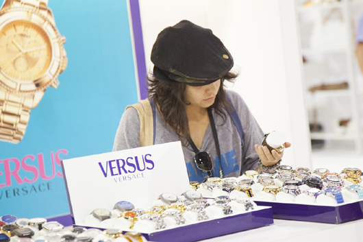 WWD Magic Trade Show Attendee Checks Out Versus Watches