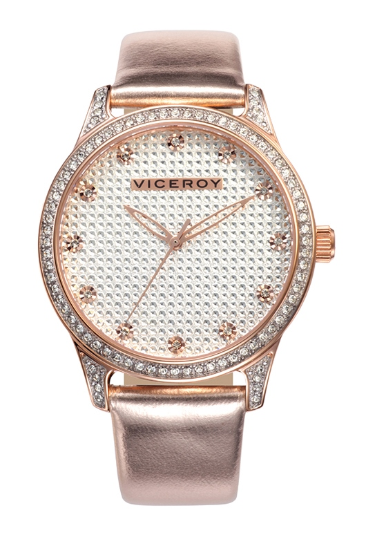 Viceroy Ladies 40700-97 Femme Rose Gold Ion-Plated Stainless Steel Crystal Encrusted Watch
