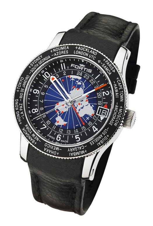 Fortis B-47 World Timer GMT 674.21.11.L01