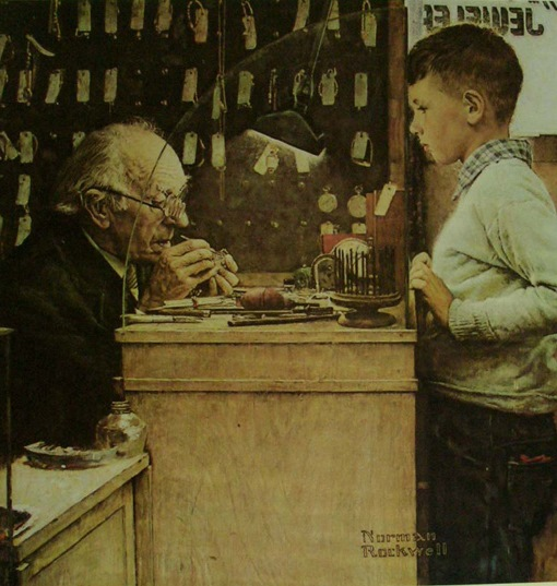 Norman Rockwell's - The Watchmaker